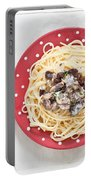 Sardines And Spaghetti Portable Battery Charger by Tom Gowanlock