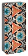 Seamlessly Tiled Kaleidoscopic Mosaic Pattern Portable Battery Charger