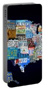 The Usa License Tag Map Portable Battery Charger