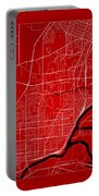 Thunder Bay Street Map - Thunder Bay Canada Road Map Art On Colo Portable Battery Charger
