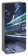 Tram At Night Portable Battery Charger