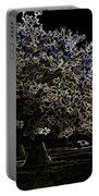 Tree With Large White Flowers Portable Battery Charger
