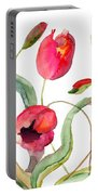 Tulips Flowers Portable Battery Charger