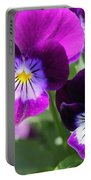 Viola Named Sorbet Plum Velvet Jump-up Portable Battery Charger