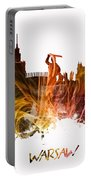Warsaw City Skyline Portable Battery Charger