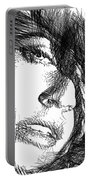 Woman Sketch Portable Battery Charger