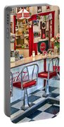 50s American Style Soda Fountain Portable Battery Charger by David Smith