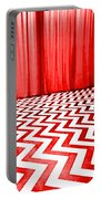 Black Lodge Portable Battery Charger by Luis Ludzska