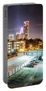 Charlotte City Skyline Night Scene Portable Battery Charger