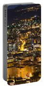 Cityscape At Night Portable Battery Charger