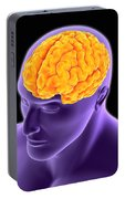 Conceptual Image Of Human Brain Portable Battery Charger