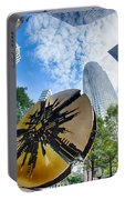 Financial Skyscraper Buildings In Charlotte North Carolina Usa Portable Battery Charger
