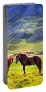 Icelandic Ponies Portable Battery Charger