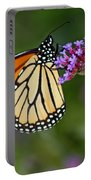 Monarch Butterfly In Garden Portable Battery Charger