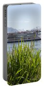 Passenger Ship On An Alpine Lake Portable Battery Charger
