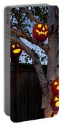 Pumpkin Escape Over Fence Portable Battery Charger