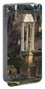 Ruins In The Roman Forum Rome Italy Portable Battery Charger