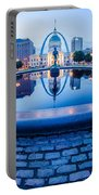 St. Louis Downtown Skyline Buildings At Night Portable Battery Charger