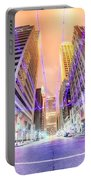 Tulsa City Skyline Around Downtown Streets Portable Battery Charger