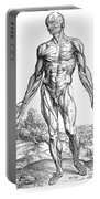 Vesalius: Muscles, 1543 Portable Battery Charger