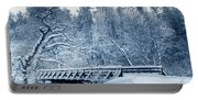 Winter White Forest Portable Battery Charger