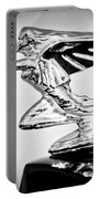 1935 Packard Hood Ornament -0295bw Portable Battery Charger