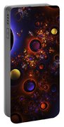 Computer Generated Sphere Abstract Fractal Flame Modern Art Portable Battery Charger