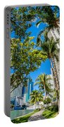 Downtown Miami Brickell Fisheye Portable Battery Charger