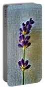 Lavender On Linen 2 Portable Battery Charger