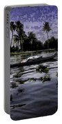 Man Boating On A Salt Water Lagoon Portable Battery Charger