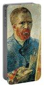 Self Portrait Portable Battery Charger by Vincent van Gogh