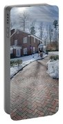 Snow Around Billy Graham Library After Winter Storm Portable Battery Charger