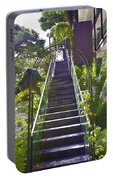 Staircase Leading To A Higher Level In Siloso Hotel In Sentosa Portable Battery Charger