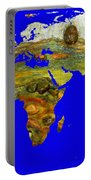 Modern World Map  Portable Battery Charger