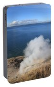 Yellowstone Lake And Geysers Portable Battery Charger