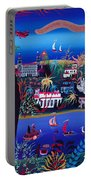 75th Anniversary Of Palm Beach, Florida Oil On Canvas Portable Battery Charger
