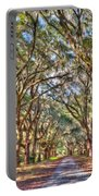 Plantation Allee Of Oaks Portable Battery Charger