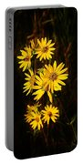 Bees And Flowers Portable Battery Charger