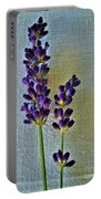 Lavender On Linen Portable Battery Charger