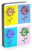 8 Warhol Roses By Punt Portable Battery Charger