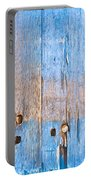 Blue Wood Portable Battery Charger