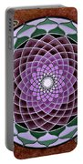 Cosmic Flower Mandala 6 Portable Battery Charger