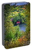 Fall Forest And Lake Portable Battery Charger