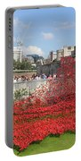 Remembrance Poppies At The Tower Of London Portable Battery Charger