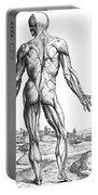 Vesalius: Muscles, 1543 Portable Battery Charger