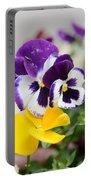 Viola Tricolor Heartsease Portable Battery Charger