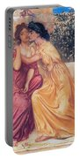 Sappho And Erinna In A Garden Portable Battery Charger