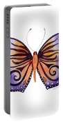 93 Orange Purple Capanea Butterfly Portable Battery Charger by Amy Kirkpatrick