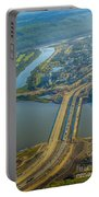 Fort Mcmurray From The Sky Portable Battery Charger