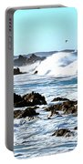 Seascape And Sea Gulls Portable Battery Charger